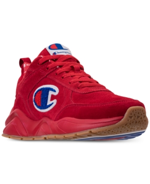 CHAMPION MEN'S 93EIGHTEEN SUEDE CHENILLE ATHLETIC TRAINING SNEAKERS FROM FINISH LINE