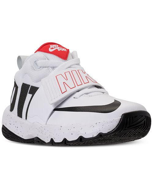 337545eef293 ... Nike Boys rsquo  Team Hustle D8 Just Do It Basketball Sneakers from  Finish ...
