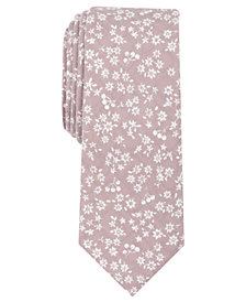 Bar III Men's Cristales Floral Skinny Tie, Created for Macy's