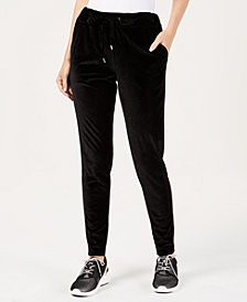 MICHAEL Michael Kors Velvet Jogger Pants in Regular & Petite Sizes