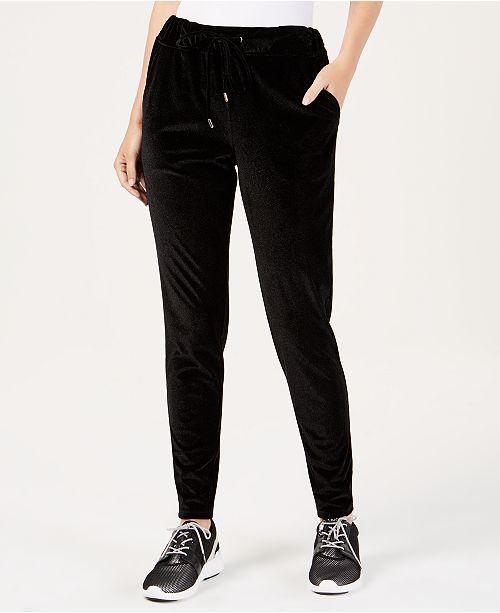 23f3bea2f2cb1 Michael Kors Velvet Jogger Pants in Regular   Petite Sizes   Reviews ...