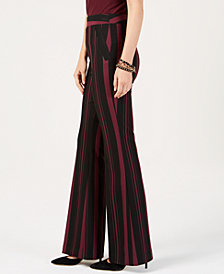 I.N.C. Petite Stripe Ponte Wide Leg Pants, Created for Macy's