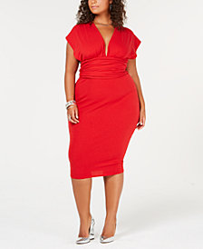 Rebdolls Plus Size Multiway Midi Dress from The Workshop at Macy's