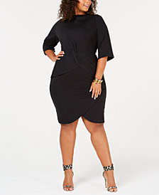 Rebdollls Plus-Size Peplum Dress from The Workshop at Macy's
