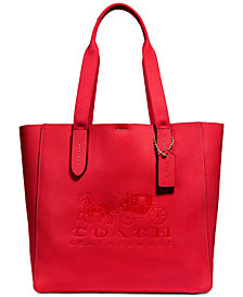 COACH Grove Signature Tote in Pebble Leather, Created for Macy's