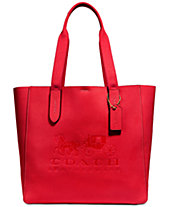 COACH Grove Signature Tote in Pebble Leather, Created for Macy s b99f935507