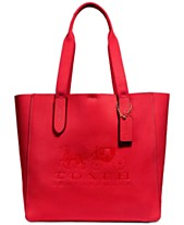 Coach Grove Signature Tote In Pebble Leather Created For Macy S