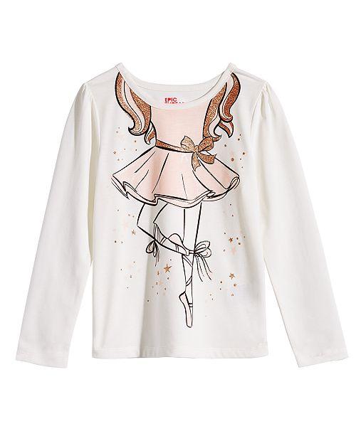 436009ac Epic Threads Little Girls Ballerina T-Shirt, Created for Macy's ...