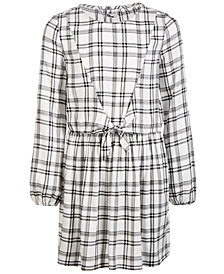 Epic Threads Big Girls Tie-Front Plaid Dress, Created for Macy's