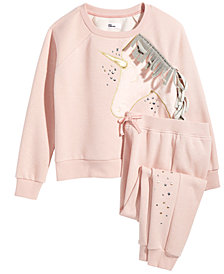 Epic Threads Big Girls Unicorn Sweatshirt & Jogger Pants, Created for Macy's