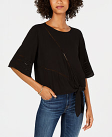 John Paul Richard Petite Tie-Front Top