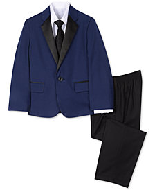 Nautica Little Boys 4-Pc. Tuxedo Jacket, Shirt, Pants & Necktie Set