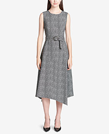 Calvin Klein Printed Sleeveless A-Line Dress