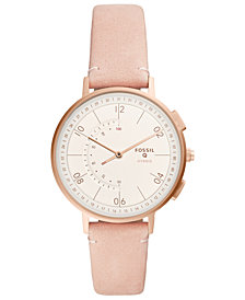 FOSSIL Q Women's Harper Blush Leather Strap Hybrid Smart Watch 37mm