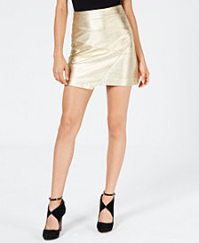 GUESS Hester Asymmetrical Metallic Skirt