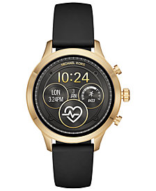 Michael Kors Access Unisex Runway Black Silicone Strap Touchscreen Smart Watch 41mm