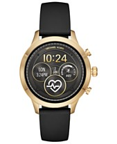 0060ed847d0e1 Michael Kors Access Unisex Runway Black Silicone Strap Touchscreen Smart  Watch 41mm