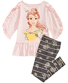 Disney Little Girls 2-Pc. Belle Graphic Tunic & Leggings Set