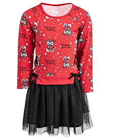 Disney Little Girls Mickey & Minnie Mouse Layered-Look Tutu Dress