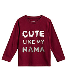First Impressions Baby Boys Cute Like Mom-Print Cotton T-Shirt, Created for Macy's