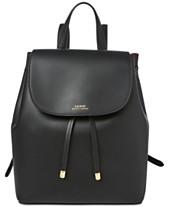 Lauren Ralph Lauren Dryden Flap Leather Backpack f2b4a9482f5ea