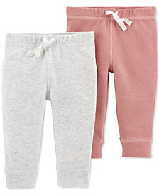 Carter's 2-Pack Baby Girls Cotton Fleece Jogger Pants