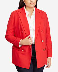 Lauren Ralph Lauren Plus Size Double-Breasted Blazer