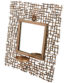 Madison Park Costa Spectra Wall Candle Holder with Mirror