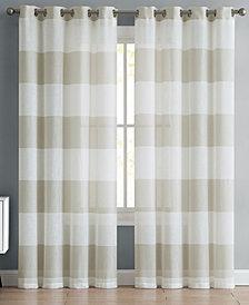 VCNY Home August Stripe Semi-Sheer Grommet Window Panels