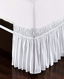 Wrap Around Bed Skirt, Elastic Dust Ruffle Easy Fit, Wrinkle and Fade Resistant - Queen King