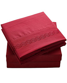 Double Brushed Microfiber Bed Sheet Set CalKing