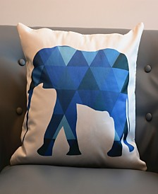 Outdoor Pillow Shell - Animal Print - Elephant