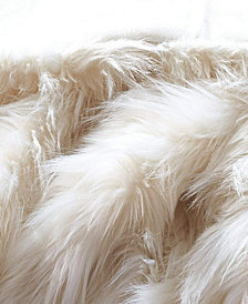 Faux Fur Throw Blanket, Super Soft Eyelash Fuzzy Light Weight Luxurious Cozy
