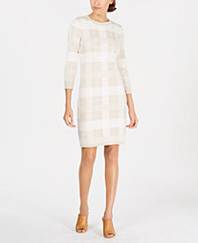 Calvin Klein Plaid Sweater Dress