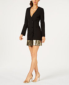 Laundry Sequined Blazer Dress