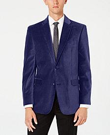 Tommy Hilfiger Men's Modern-Fit TH Flex Stretch Solid Velvet Sport Coat