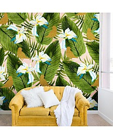 Marta Barragan Camarasa Golden Birds in the Rainforest 8'x8' Wall Mural