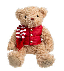 FAO Schwarz Toy Plush Anniversary Bear 12inch with Puffer Vest