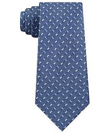 DKNY Men's Geometric Slim Silk Tie