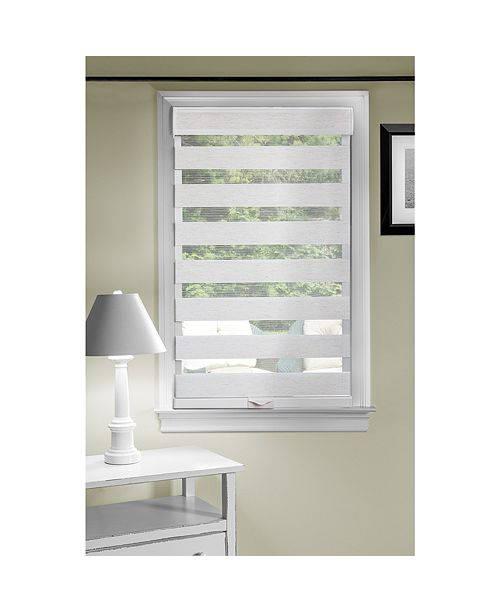 "Achim Cordless 32""x72"" Celestial Sheer Double Layered Shade"