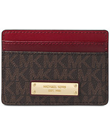 MICHAEL Michael Kors Signature Bicolor Card Case