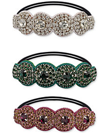 Deepa Two-Tone 3-Pc. Set Crystal & Stone Ponytail Holders
