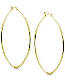 Essentials Large Oval Hoop Earrings in Gold-Plate