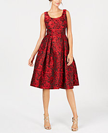 Ivanka Trump Floral-Print Fit & Flare Dress