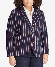 Lauren Ralph Lauren Plus Size Double-Knit Jacquard Blazer