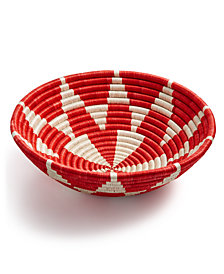 Global Goods Partners Kaleidoscope Woven Decorative Bowl