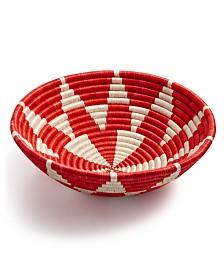 Global Goods Partners Kaleidoscope Woven Decorative Bowl