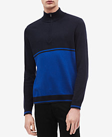Calvin Klein Men's Colorblocked Quarter-Zip Sweater