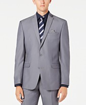 b0ff5ad3bdce Bar III Men s Slim-Fit Stretch Solid Iridescent Suit Jacket