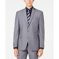 Bar III Men's Slim-Fit Stretch Solid Iridescent Suit Jacket (Silver)